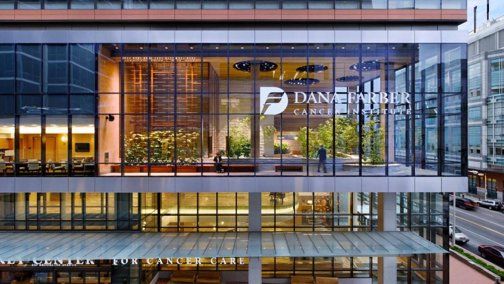 Picture of the Dana Farber Building with Logo.