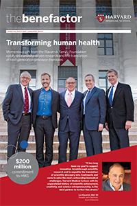 Cover of the winter 2018 issue of The Benefactor