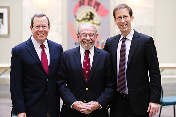 Left to right: Edward M. Hundert, MD '84, George E. Thibault, MD '69, and David A. Hirsh, MD