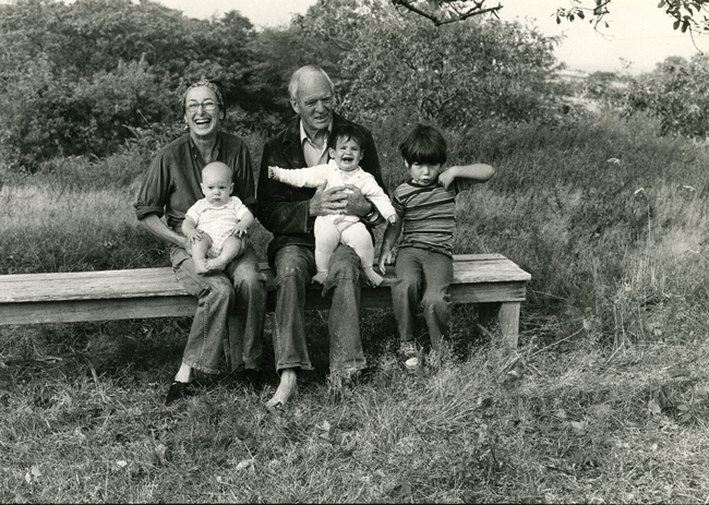 CONNECTIONS: Nan and Will enjoy the company of three of their grandchildren during the summer of 1976.