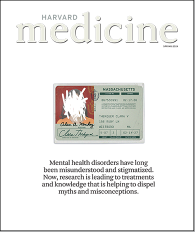 cover of the Spring 2019 issue of Harvard Medicine