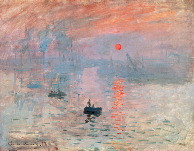 Claude Monet, Impression, Sunrise, 1872, 48 x 63 cm., oil on canvas