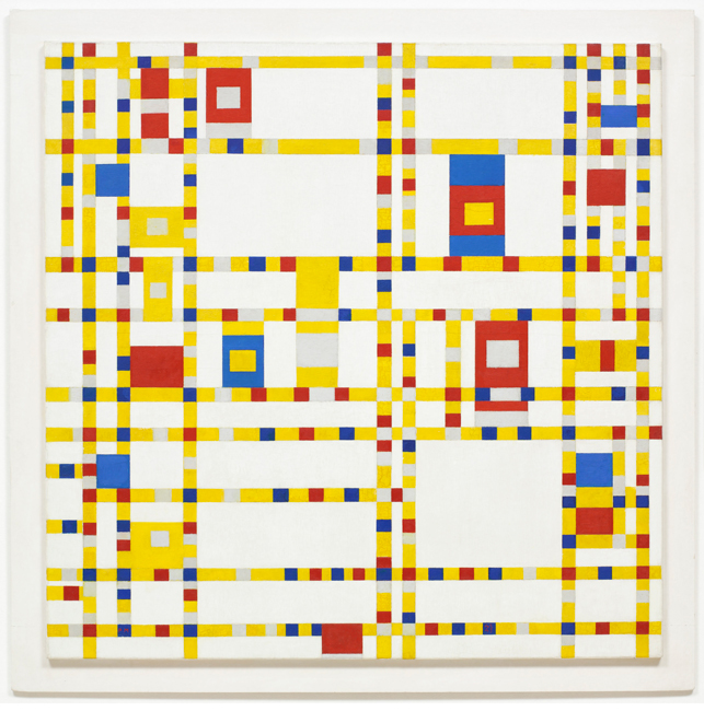 Piet Mondrian, Broadway Boogie Woogie, 1942-43, 50 x 50 in., oil on canvas