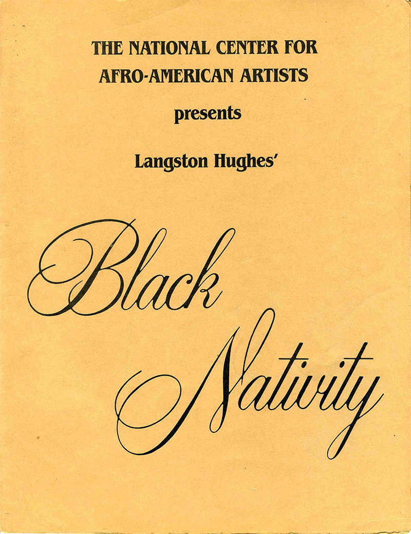 program cover for play, Black Nativity