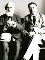 Walter Bradford Cannon (right), George Higginson Professor of Physiology at HMS, with acclaimed physiologist Ivan Pavlov in 1923. Each made key discoveries about the association between emotions, psychology and physiology.