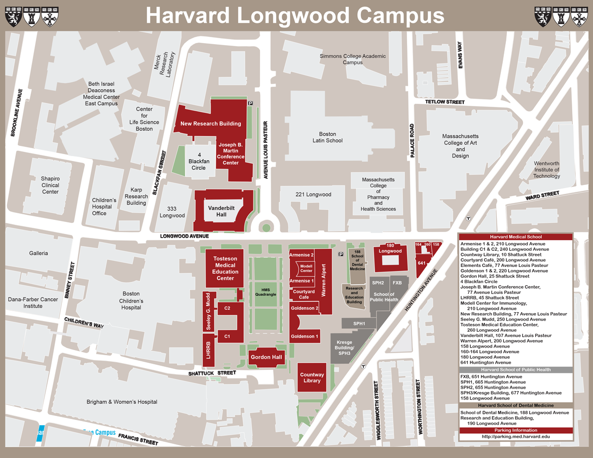Harvard Longwood Campus Maps and Directions | Harvard Medical School