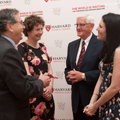Dean Jeffrey S. Flier, MD, Wilson, Martin, and Bevin Kaplan celebrate the establishment of the professorship