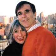 Cheryl Gorelick with her late husband, Kenneth Gorelick, MD '67, who used his cancer diagnosis as a means to teach his students the power of empathy