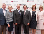 David Neskey; Elizabeth G. Nabel, MD, president of BWH; David Brown, MD, chief of the Department of Emergency Medicine at MGH; Walls; Nancy Tarbell, MD, HMS dean for academic and clinical affairs; and Sharon Neskey