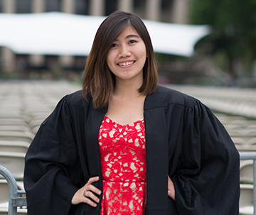 Marsha Wibowo at her graduation from Massachusetts Institute of Technology in 2016