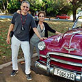 The Moskovitzes, who traveled to Havana, Cuba, as part of a Harvard Alumni Association trip in January 2017
