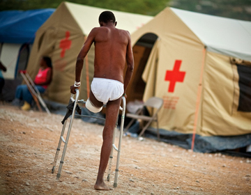 LIFE AND LIMB: With estimates of earthquake-related amputations reaching into the thousands, Haiti must provide care for a generation of amputees.<br/><br/>Photo by Justin Ide/Harvard News Office