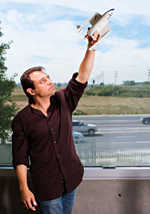 ROCKET SCIENCE: As a medical student, Peter Diamandis would haul a brick-sized cell phone on patient rounds so he could monitor NASA's test firings of rockets.<br/><br/>Photo by Gregg Segal