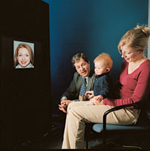 BABY ON BOARD: The young participants in Charles Nelson's studies give us a glimpse into how facial recognition works.<br/><br/>Photo by Margaret Lampert
