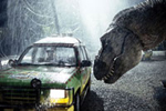 SUSPENDED ANIMATION: With its DNA dating back some 65 million years, beyond the reach of genomic sequencing, the Tyrannosaurus rex must depend on keyboard strokes for his resurrection. When it was released in 1993, Jurassic Park became a landmark in the use of computer–generated imagery. <br/>Photo by Murray Close/Sygma/Corbis