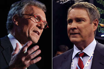 Thomas Daschle (left) and William Frist</br>Photo credit: AP Photo/Charles Dharapak (Daschle);</br>AP Photo/Susan Walsh (Frist)