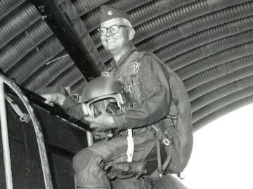FLIGHT DOC: An interest in flying led Royce Moser to undertake the study of respiration at high altitudes and to pursue a career in aerospace medicine. </br>Photo: Courtesy of Royce Moser