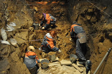 DOWN TO EARTH: Excavation of Denisova Cave, a site overseen by the Russian Academy of Sciences, is an ongoing venture involving international teams of researchers.<br/>Photo courtesy of David Reich