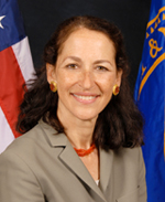 SAFETY CAP: Margaret Hamburg helps protect public health by overseeing the quality of the nation's food and drugs.<br/>Photo courtesy of the Food and Drug Administration