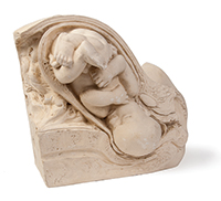 LABOR INTENSIVE: A plaster Dickinson-Belskie birth model, one in a series of reproductive anatomy educational tools created for the 1939 World's Fair. Courtesy of the Warren Anatomical Museum. Photo: Paul Morrison