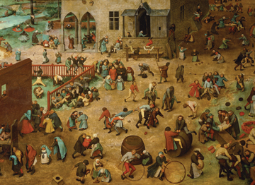 <i>Children's Games</i>, Pieter Bruegel The Elder, 1560, Kunsthistorisches Museum, Vienna