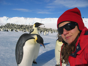 Jessica Meir, who has studied emperor penguins in Antarctica, has been chosen by NASA as an astronaut candidate.