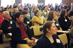 On Jan. 25, a child care summit drew about 180 participants from across the Harvard community to the Joseph B. Martin Conference Center. Photo by R. Alan Leo.