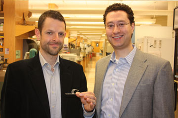 Jeffrey Karp (left) and Bryan Laulicht. Photo courtesy Karp Lab/Brigham and Women's Hospital