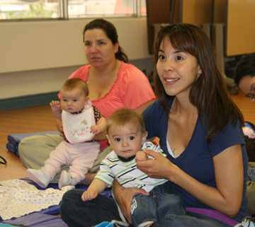 Mothers and babies at a community-based health education and wellness program in Alaska. Photo copyright Southcentral Foundation.