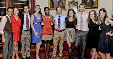 Primary Care Student Leadership Committee at the Inaugural Kickoff Event on September 13, 2012. Photo by Steve Lipofsky