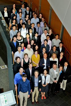 Members of the Paul F. Glenn Laboratories for the Molecular Biology of Aging at the symposium.  Image: Steve Lipofsky