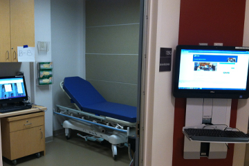 One of 18 clinical exam rooms in the new Clinical Skills Center at HMS. Image: M. Buckley
