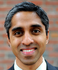 Dr. Vivek Murthy.  Image: Meredith Nierman/Courtesy Brigham and Women's Hospital