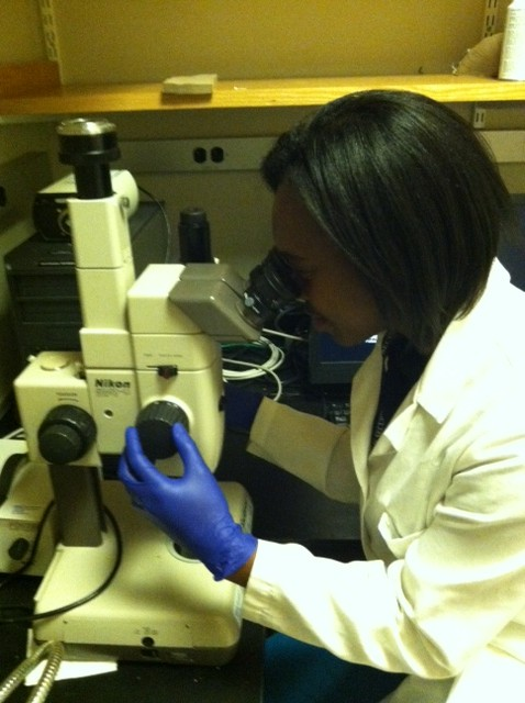Tasha Ward in the lab. Image: Erica Mazaika