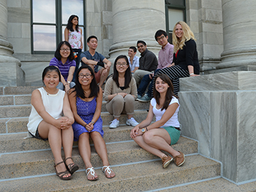 Members of the inaugural group of BCMP Scholars approach the halfway point of their summer program. Image: Angela Alberti