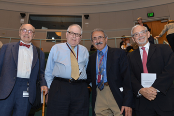 Daniel Federman, Ron Arky, Chales Hatem and Stephen Zinner attend the 2014 Daniel D. Federman Teaching Awards ceremony. Image: Steve Gilbert.