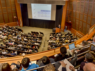 O'Rahilly spoke to a packed auditorium on April 6 and 7, 2015.