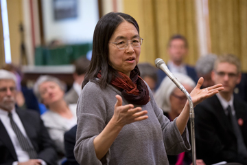 Ting Wu speaks at a congressional briefing on personal genetics and law enforcement. Image: Mark Finkenstaedt