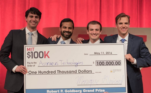 From left: Graham Lieberman, Jay Kumar, Alexander Blair and Joseph Azzarelli. Image: Michael Last, MIT News
