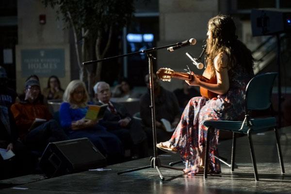 """Parisa Fallah performs """"We are One."""""""