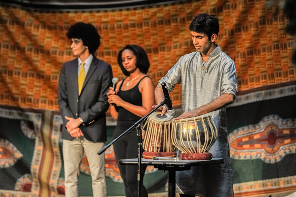 From left: Troy Ameen, Sloane Mebane and Ruchit Nagar