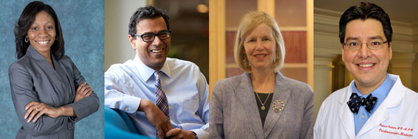 From left: Fatima Cody Stanford, Atul Gawande, JoAnn Manson and Fidencio Saldana