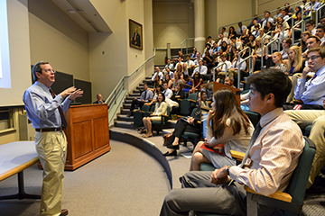 Dean for Medical Education Edward Hundert leads curriculum changes for next generation of doctors. Photo: Steve Lipofsky