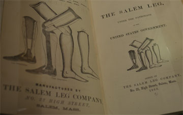 An advertisement for the Salem Leg Company. Photo: Shraddha Chakradhar.