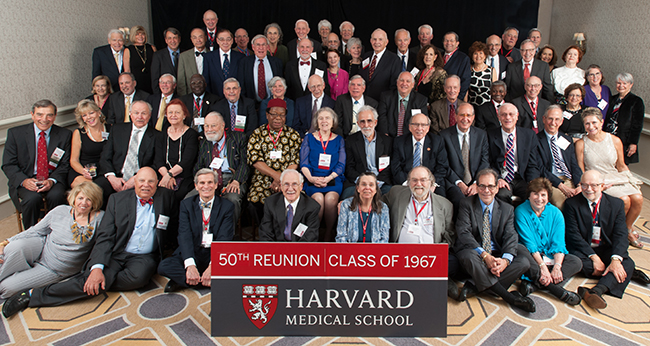 Members of the Class of 1967 at the 2017 Reunion Gala