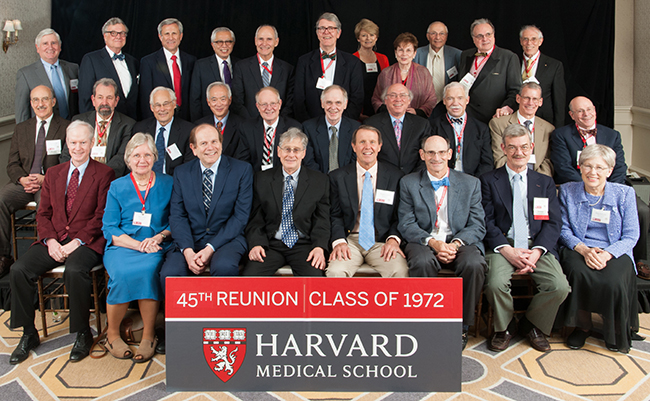 Members of the Class of 1972 at the 2017 Reunion Gala
