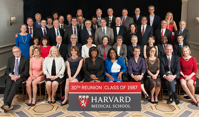 Members of the Class of 1987 at the 2017 Reunion Gala