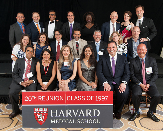 Members of the Class of 1997 at the Reunion Gala