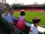 Family enjoying the Fenway Park Tour