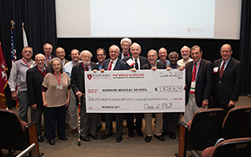 The Class of 1967 raised the most funds, totaling $1.8 million in support of HMS